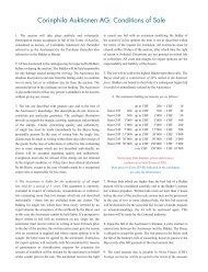 Corinphila Auktionen AG: Conditions of Sale
