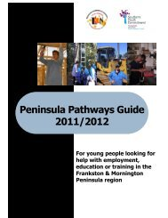 Peninsula Pathways Guide 2011/2012 - Western Port Secondary ...