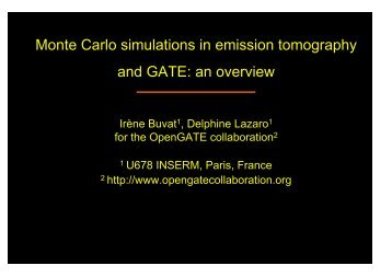 Monte Carlo simulations in emission tomography and GATE: an ...