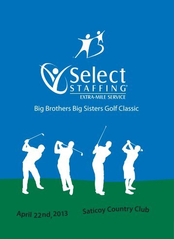 April 22nd, 201 Saticoy Country Club 3 Big Brothers Big Sisters Golf ...