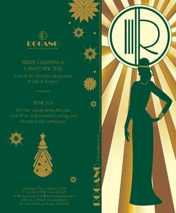 Christmas Menus - Rogano