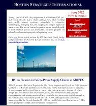 June 2012: Road to Renewables - Boston Strategies International