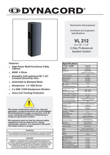 Datenblatt (1.86MB) - Dynacord