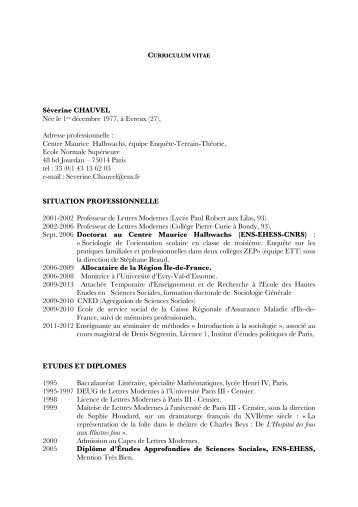 Curriculum Vitae - Jourdan.ens.fr