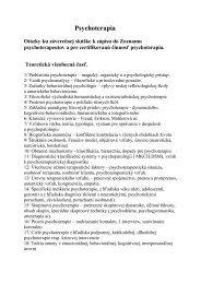 Psychoterapia - Slovenská psychoterapeutická spoločnosť