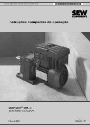 MOVIMOT® MM..D com motor CA DZ/DX - SEW-Eurodrive