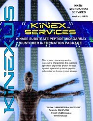(KKSM) Services Customer Information Package - Kinexus ...