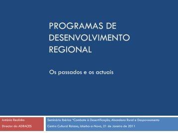 Programas de desenvolvimento regional - Os passados e - ICNF