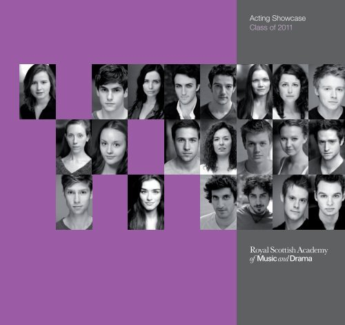 Acting Showcase Class of 2011 - Royal Conservatoire of Scotland
