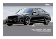 Modell C-Klasse W204 - C180K - C63AMG - MEC DESIGN