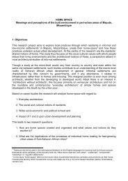 HOME SPACE Meanings and perceptions of the built environment in ...