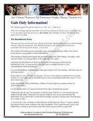 Gals Only Information - Spirit Unlimited Professional DJ Entertainment