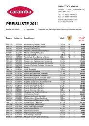 Caramba Preisliste 2011 NEU - v-tools