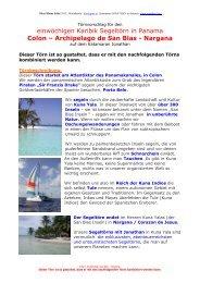 Colon – Archipelago de San Blas - Nargana - Katamaran Segeln ...