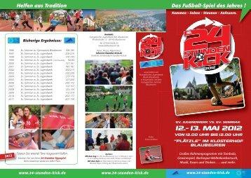 12.-13. MAI 2012 - 24-Stunden-Kick