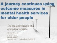 Outcome Measurement in Australia: a personal journey - Australian ...