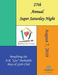 Super Saturday Night Brochure! - Boys & Girls Clubs of Metro Atlanta