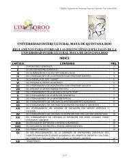 Reglamento de Distinciones Especiales - UIMQRoo