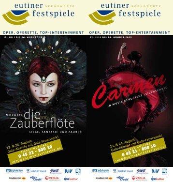 Festspielflyer 2013 - Eutiner Festspiele