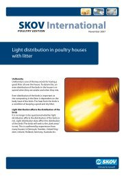 Light Distribution in Poultry Houses with Litter - Skov A/S