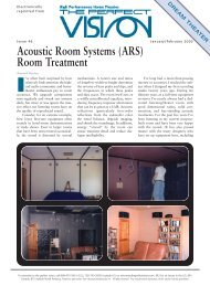 Acoustic Room Systems (ARS) Room Treatment - CinemaTech