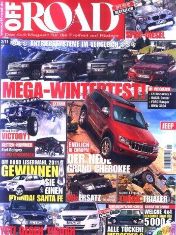 Jeep® Actioncamper© Off Road Zeitung 2/11 - Thaler Design Gmbh