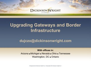 Upgrading Gateways and Border Infrastructure - CSG Midwest