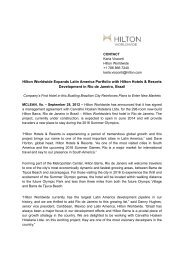 Hilton Worldwide Expands Latin America Portfolio with Hilton Hotels ...