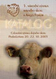 Katalog zvířat 2005.pdf, 901 kB - Český svaz chovatelů masného skotu