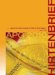 Hirtenbrief 2011 - Apostelgeschichte 2010