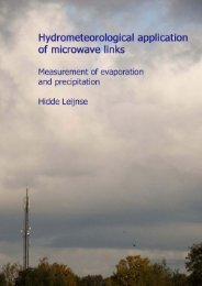 Hydrometeorological application of microwave links ... - Hydrology.nl