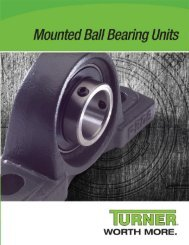 Turner Mounted Bearings Catalog (PDF) - McGuire Bearing Company