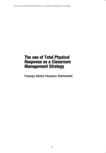 The use of Total Physical Response as a Classroom ... - HCT Marifa