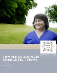 SAMPLE SEQUENCE: ENERGETIC THEME - Curvy Yoga