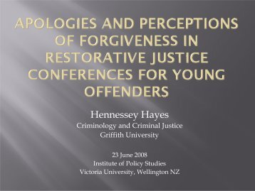 Restorative Justice Hayes.pdf - Institute for Governance and Policy ...