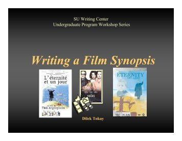 Writing a Film Synopsis - CENTER FOR INDIVIDUAL and ...