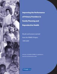 Improving the Performance of Primary Providers in Family ... - Prime II
