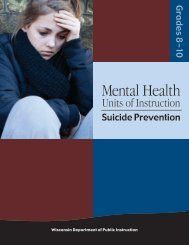 Issues in Mental Health: Suicide Prevention Grades 8-10 - Student ...