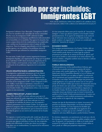 Luchando por ser incluidos: Inmigrantes LGBT - Lambda Legal
