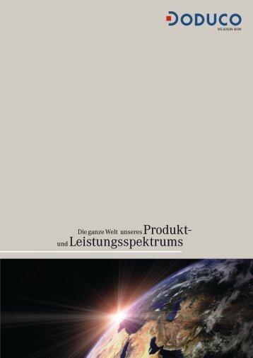 Produkt- und Leistungsspektrum - Doduco GmbH