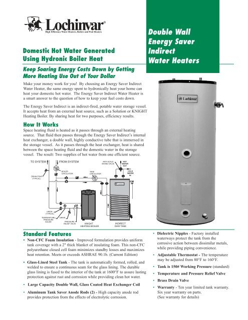indirect water heater tank