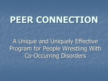 PEER CONNECTION - National Alliance for the Mentally Ill - Maryland