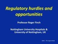 Regulatory hurdles and opportunities