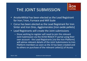 THE JOINT SUBMISSION - The Iron Platform