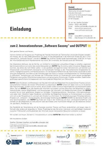 PROJEKTTAG 2008 Einladung - Arbeitskreis Software