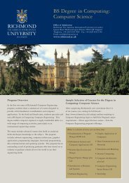 BS Degree in Computing: Computer Science - Richmond - The ...