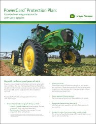 PowerGard™ Protection Plan: - John Deere