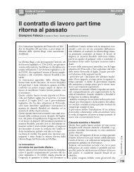 Il contratto di lavoro part time ritorna al passato - UILA Potenza