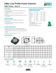 LMax Low Profile Power Inductor LMLP Series – Style R - Avx