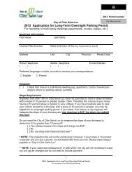 2012 Application for Long-Term Overnight Parking Permit